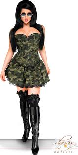 plus size 3 pc army costume