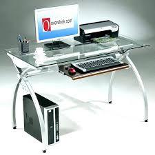 computer desk glass metal glass and metal desk modern glass computer desk glass and metal