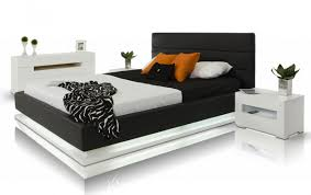 Platform Bed With Lights Modrest Infinity Contemporary Platform Bed With Lights Modern