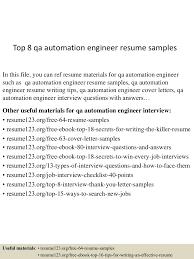 Qa Resume Sample Qa Resume Objective Resume Cv Cover Letter