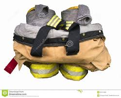 Firefighter Boots Information by Firefighters Gear Stock Photo Image 50154826