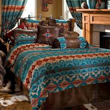 bedding cute southwestern bedding turquoise chamarro comforter