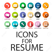 Resume Job by Icons Set For Your Resume Cv Job Royalty Free Cliparts Vectors
