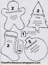 season free patterns for felt ornaments vintage