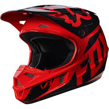 boys motocross helmet fox racing 2017 kids mx new v1 race red black youth dirt bike