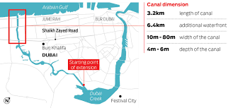 Dubai India Map by Dubai Canal Opens On Wednesday Gulfnews Com