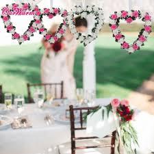 heart rose wreath door wall hanging wedding car decoration silk