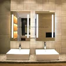 bathroom magnifying mirror with light fabulous backlit vanity mirror anti fog mirrors for bathroom with