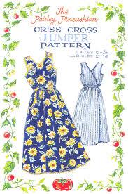 criss cross jumper dress pattern paisley pincushion