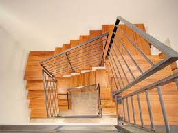 stylish contemporary minimalist house wood steel stairs for