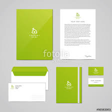 business card notebook corporate identity eco design template documentation for business