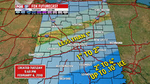 Indiana Road Conditions Map Travel Watches Advisories In Effect For Indiana Counties For