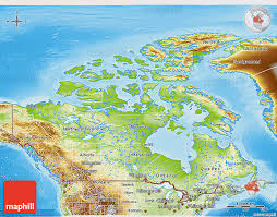canada maps physical 3d map of canada