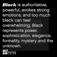 meaning of the color black sensational color