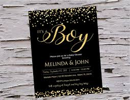 black and gold baby shower invitations it u0027s a boy little man