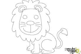 draw lion kids drawingnow