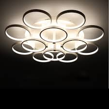Led Bedroom Lighting Circle Rings Designer Ceiling L Avize Lighting Ceiling Lights