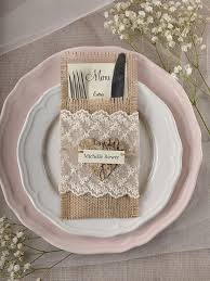 wedding silverware custom listing 10 lace silverware holders rustic burlap