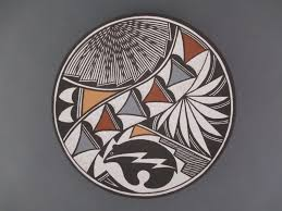 marilyn ray acoma pottery plate acoma pottery native american