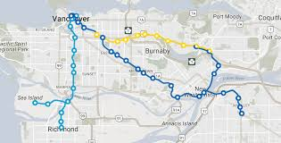 Map Run Route by New Skytrain Routes Millennium Line Will No Longer Run To