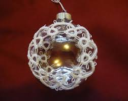 tatted ornaments etsy