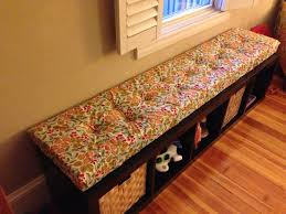 diy tufted window seat cushion for ikea expedit shelving things