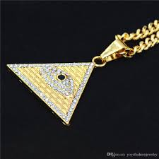 titanium gold necklace images Wholesale hip hop gold color titanium alloy egyptian pyramid jpg