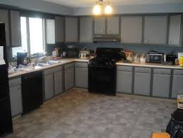 Grey Cabinet With Sleek Ceiling Light For Simple Kitchen - Simple kitchen decorating ideas