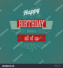 vintage birthday card editable happy birthday stock vector