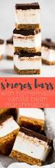 omg bars s u0027mores bars with homemade vanilla bean marshmallow