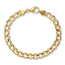 mens gold bracelet links images Kay men 39 s curb link bracelet 10k yellow gold 8 quot length jpg