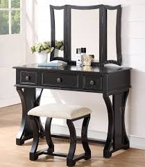 black makeup desk with drawers dulce makeup desk with bench mirror and drawers for sale