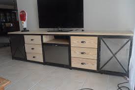 cuisine bois acier meuble cuisine a inspirations et meuble cuisine indpendant bois en
