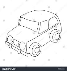 car icon outline style isolated on stock vector 569350915