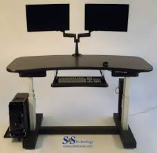 Adjustable Height Desks by 1 Table Electric Adjustable Height Desk S U0026s Technology