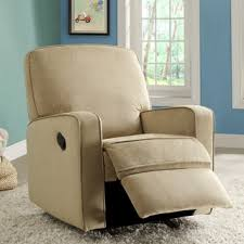 Nursery Glider Recliner Colton Gray Fabric Modern Nursery Swivel Glider Recliner Chair