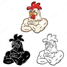 coloring book chicken cartoon character u2014 stock vector