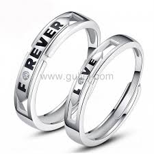 Wedding Ring Sets For Him And Her White Gold by Unique Custom Engraved Forever Love Promise Rings Set Personalized