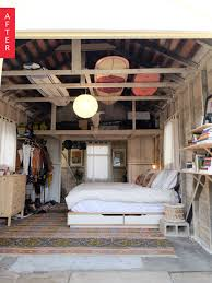 Cost To Build Garage Apartment by Before U0026 After From Grimy Garage To Glamping Bedroom Bedroom