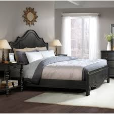 Bedroom Sets Made In Usa Corinne Wood Panel Bed In Ebonized Acacia Humble Abode