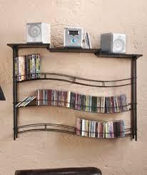 Dvd Bookcase Storage Hanging Cd Rack Foter