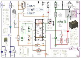build this simple cmos based single zone burglar alarm project