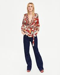 print blouses wrap blouse with contrasting print blouses shirts tops