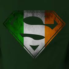 ireland flag in superman shield t shirt tee u2022 irish dc
