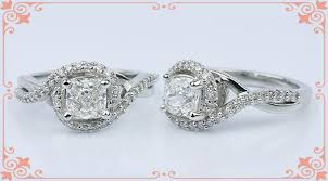 cushion solitaire engagement rings conflict free vintage cushion cut engagement rings
