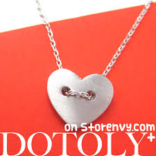 heart shaped charm necklace images Dotoly plus simple heart shaped button love charm necklace in JPG