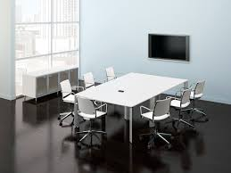 Large White Meeting Table White Modern Conference Tables Ambience Doré