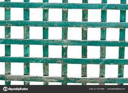 green wooden trellis lattice isolated on white background u2014 stock