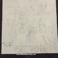diy dead and breakfast sign for halloween