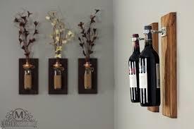 Unique Wall Sconces with Wine Bottle Sconces Makaris Decor Wine Rack Gift Unique Candle